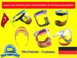 Export von Gesichtsschutz-Visiermodellen für die Massenproduktion
