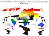 Güvenlik Şirketleri İstanbul Avrupa Yakası Kauçuk Tabanca ve Bıçak Seti Toptan Satış