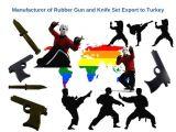 Güvenlik Şirketlerine Kauçuk Tabanca ve Bıçak Seti Seri Üretim
