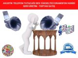 SERİ ÜRETİM AKUSTİK TELEFON TUTACAĞI SES YÜKSELTİCİ GRAMOFON HUNİSİ